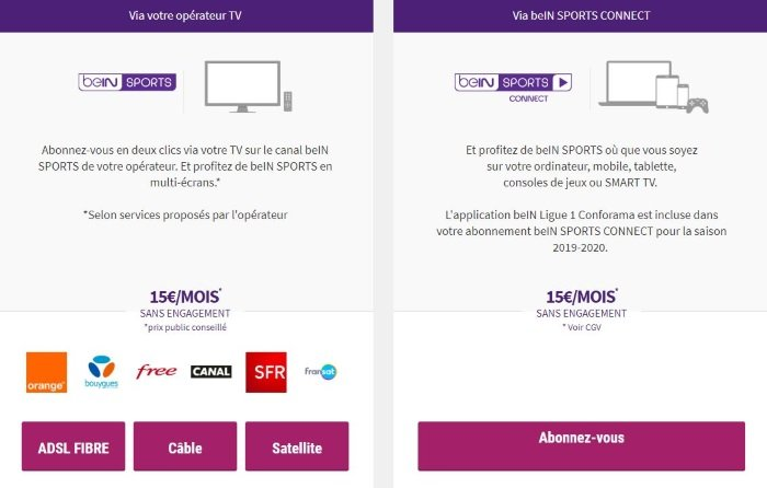 comment s abonner bein sport free