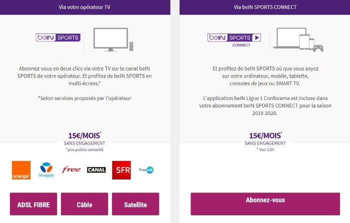 Comment s'abonner à BeIN Sports en streaming