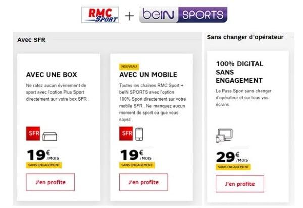 RMC Sport + BeIN Sports en promotion pour regarder le basket à la tv