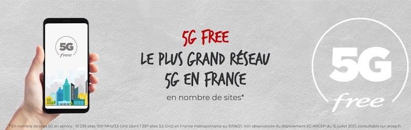 Free est le meilleur opérateur 5G en ce qui concerne le taux de couverture en 5G