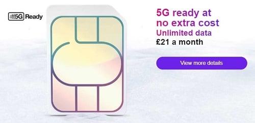 Au Royaume-Uni, chez Three, la 5G est au prix d ela 4G