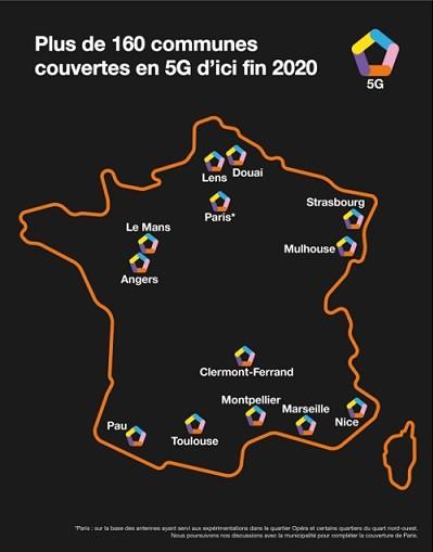 À la fin de l'année, Orange aura déployé la 5G dans 160 communes