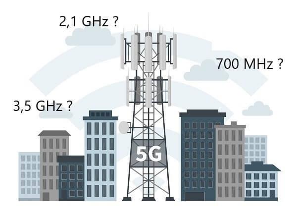 Toutes les villes couvertes en 5G ne le seront pas sur les mêmes fréquences