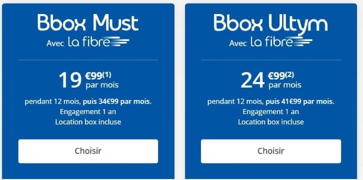 Bouygues Telecom : les abonnements fibre Must et Ultym