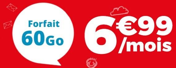 60 Go à seulement 6,99€/mois, c'est le meilleur rapport prix/data du marché