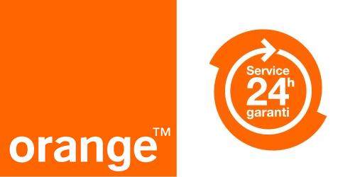 Avec le service 24 heures garanti, Orange s'engage à vous prêter un téléphone.