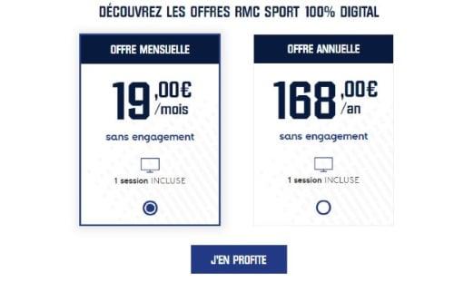 Abonnement RMC Sport pour la saison de foot 2019 2020