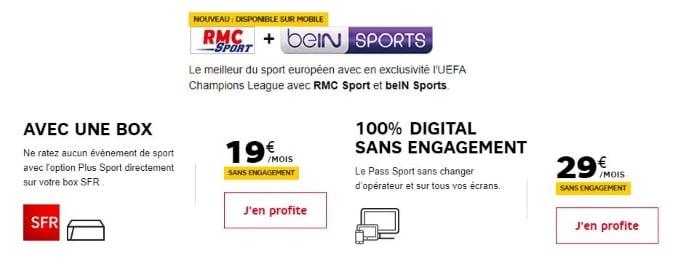 Ligue 1, Ligue des Champions et championnats étrangers grâce à l'offre RMC Sport + BeIN Sports
