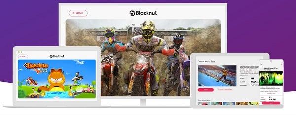 On peut jouer avec Blacknut sur ordinateur, smarphone, tablette ou télévision connectée.