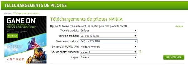 Avant de profiter de votre Shadow, il faut enfin installer des pilotes Nvidia