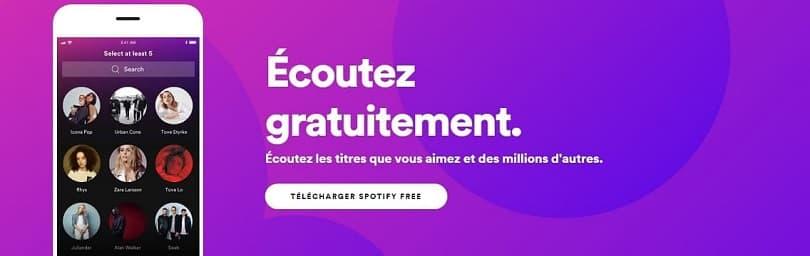 La version gratuite de Spotify