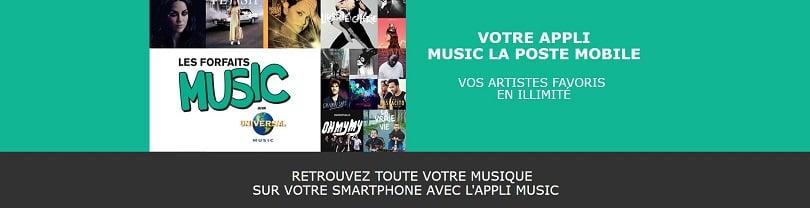 Les forfaits music de La Poste Mobile