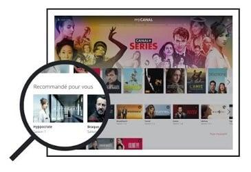 Canal+ Séries, une interface claire et attractive