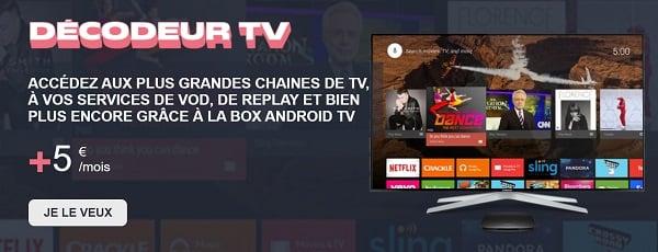 Le décodeur TV de la box 4G NRJ Mobile est à 5€/mois