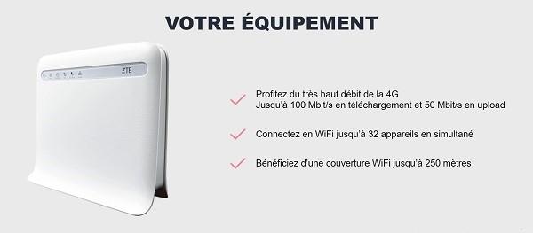 Jusqu'à 100 Mb/s de débit avec la box 4G NRJ Mobile