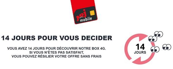 14 jours pour décider avec la box 4G NRJ Mobile