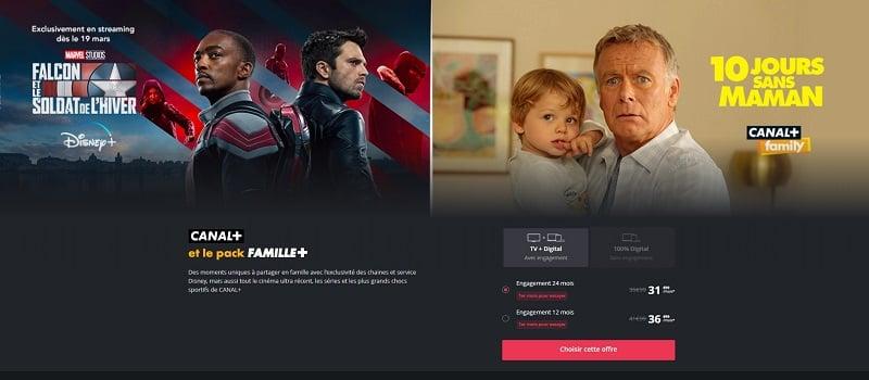 L'abonnement à Canal+ et le pack Famille + est à 31,99e
