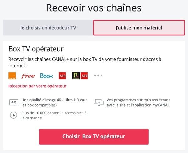 Il est possible de s'abonner à Canal+ SFR depuis la boutique Canal+