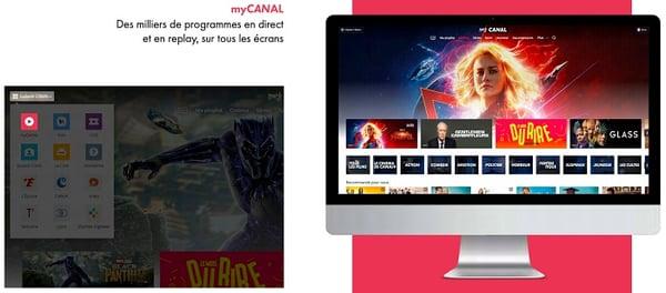 Des milliers d'heures de programmes sont disponibles sur l'application myCANAL