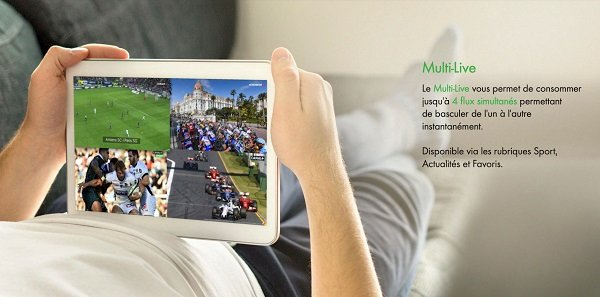 Sur l'application myCANAL, la fonction Multi-Live permet de suivre jusqu'à quatre programmes simultanément