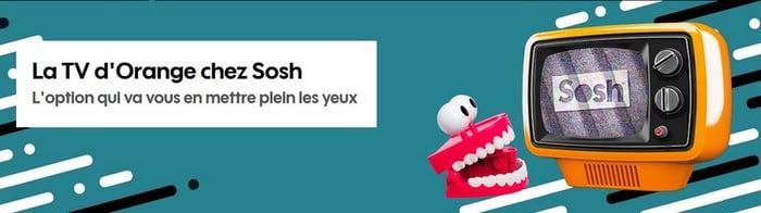 Chez Sosh, le décodeur TV est en option à 5€/mois