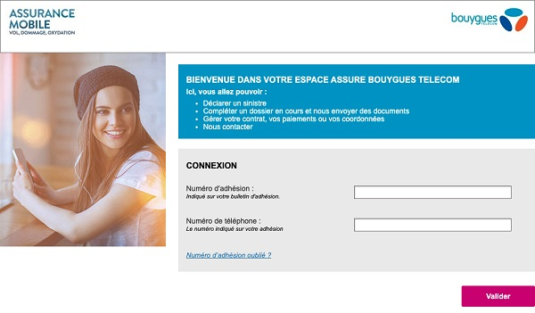 Vous pouvez déclarez par internet un sinistre à l'assurance mobile Bouygues