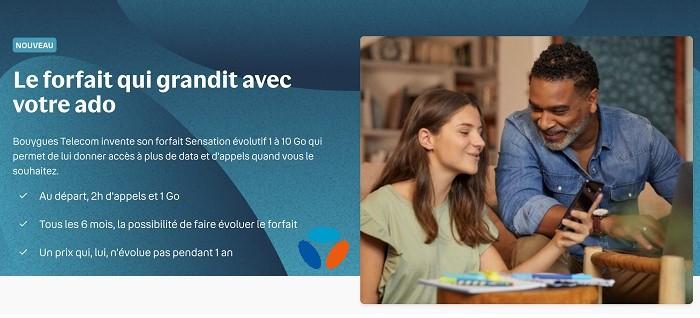 Pou rassurer les parents et responsabiliser les ados au collège, Bouygues a lancé le forfait évolutif