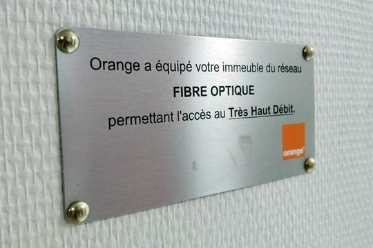 Orange a équipé votre immeuble en fibre optique