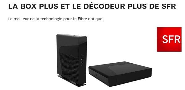 La box Plus de SFR pour la fibre optique.