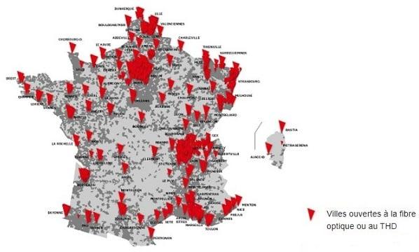 Grâce au câble, SFR est la première infrastructure THD de France, mais en retard sur la fibre.