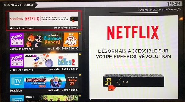 Netflix est disponible en option sur la Freebox Mini 4K et la Freebox Révolution