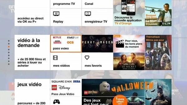 Il est possible d'accéder au service Amazon Prime Video depuis l'interface TV de votre livebox
