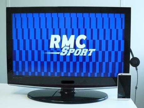 RMC Sport diffusé sur TV via Chromecast depuis un téléphone