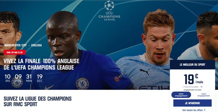 RMC Sport SFR : Finale de Ligue des Champions