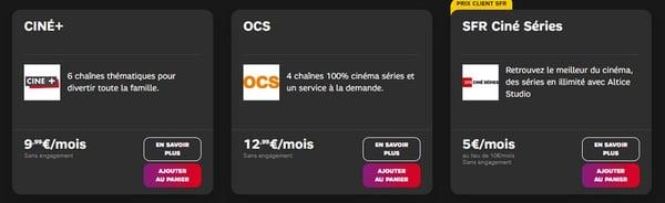 OCS en option sur le décodeur TV de SFR