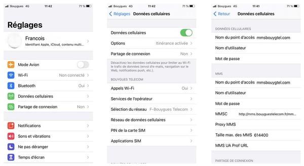 Configuration de l'APN sur un iPhone