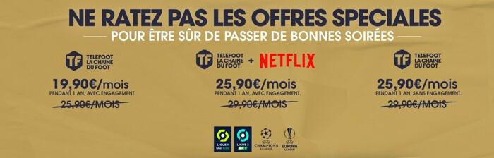 Promo Telefoot avec Netflix