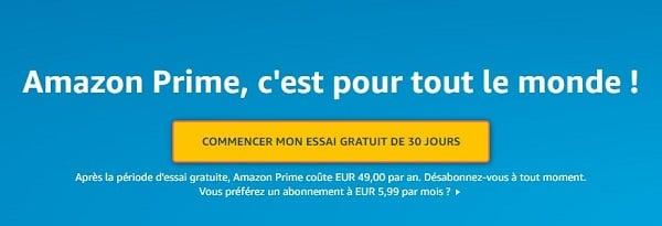 Amazon Prime, c'est gratuit pendant un mois
