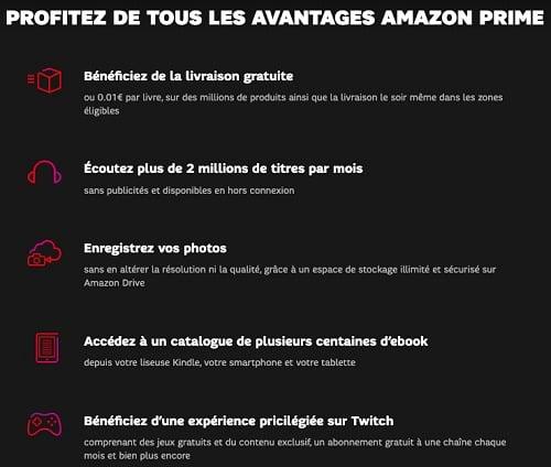 Prime Video avec SFR est un des services inclus dans l'abonnement à Amazon Prime