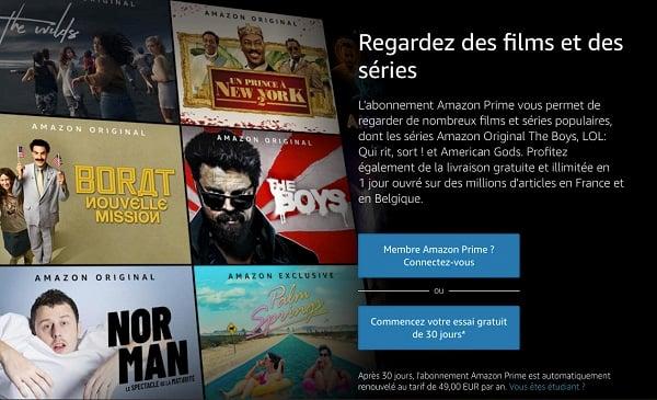 Amazon Prime Video est le service de vidéo en streaming inclus dans le programme Amazon Prime
