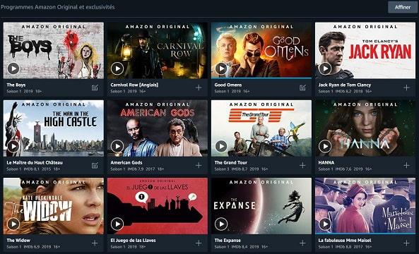 Amazon Prime Video produit des contenus originaux