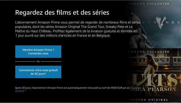 En souscrivant à Amazon Prime Video avec Orange, vous bénéficiez quand même du mois d'essai gratuit