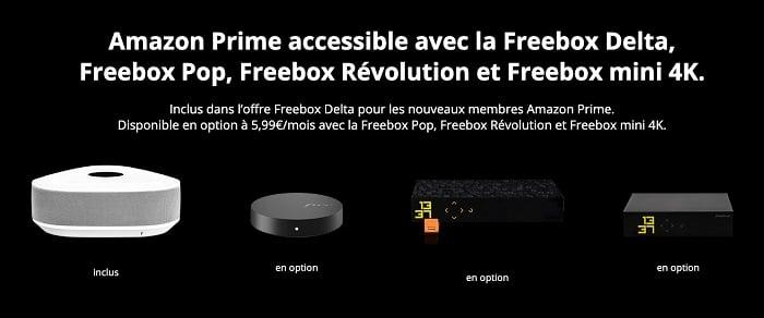 Amazon Prime Video est disponible sur toutes les Freebox