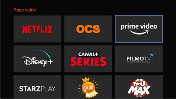 Amazon Prime Video est dans le Pass Video Orange