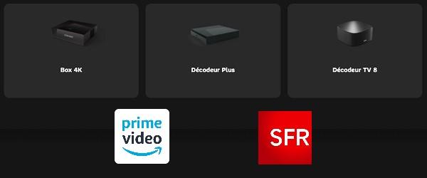 Amazon Prime Video est disponible sur trois décodeurs TV SFR