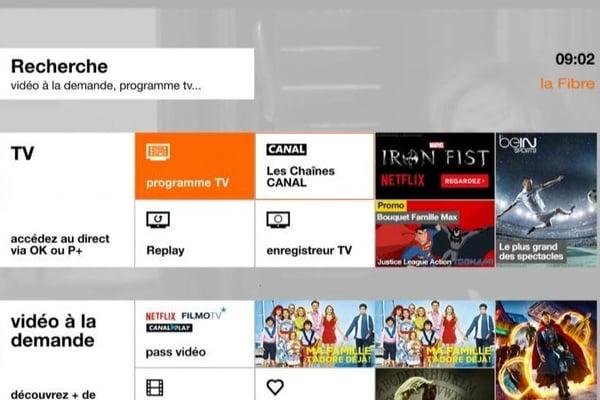 Accéder aux chaînes Canal+ depuis l'interface TV d'Orange