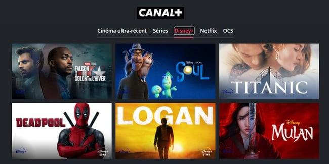 Disney+ est disponible dans certains bouquets Canal+
