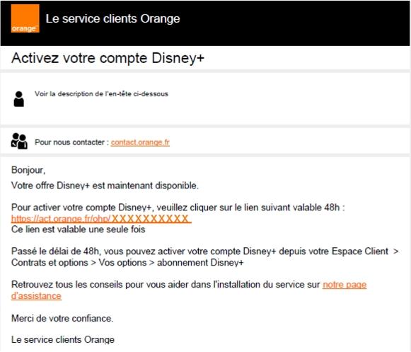 comment activer Disney+ avec Orange