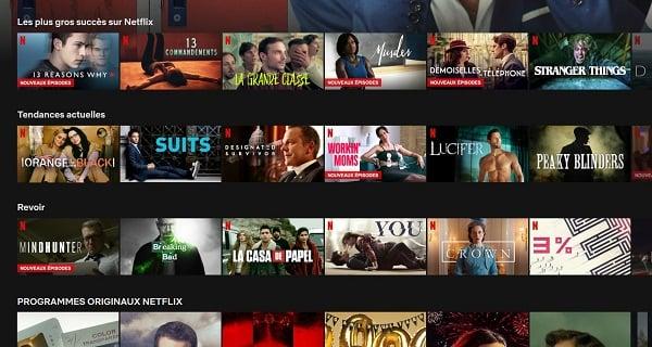 L'interface utilisateur de Netflix ou Amazon Prime Video est simple et efficace