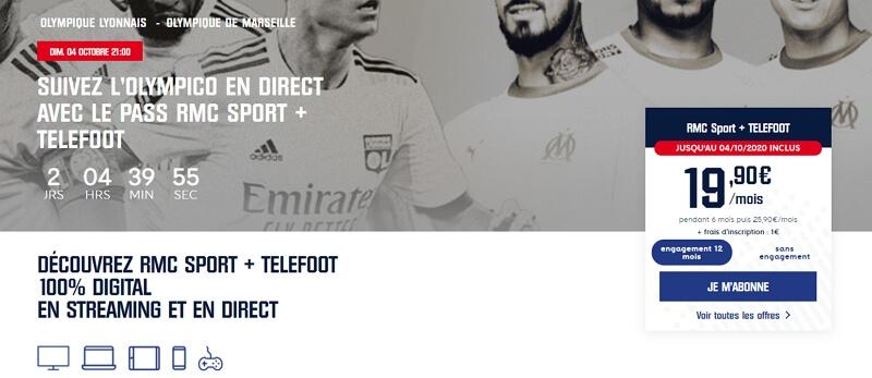 Lyon-OM à la TV sur Telefoot avec RCM Sport en promo